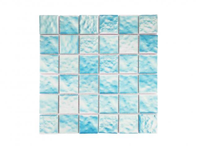 Mosaico piscina Waves Light Blue