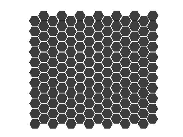 Mosaico Essagono Piccolo Tutto Spessore Nero