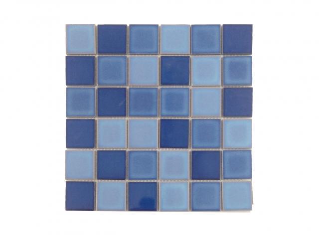 Mosaico piscina Degradato Mix blue
