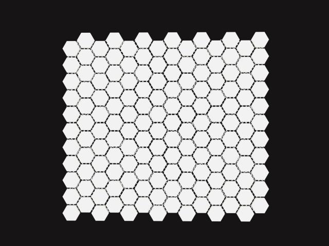 Mosaico Esagono Piccolo Bianco
