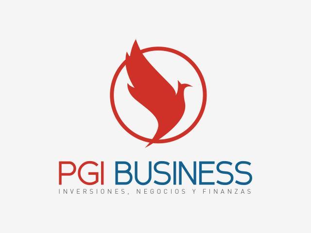 Logo PGI Business diseñado por movidagrafica
