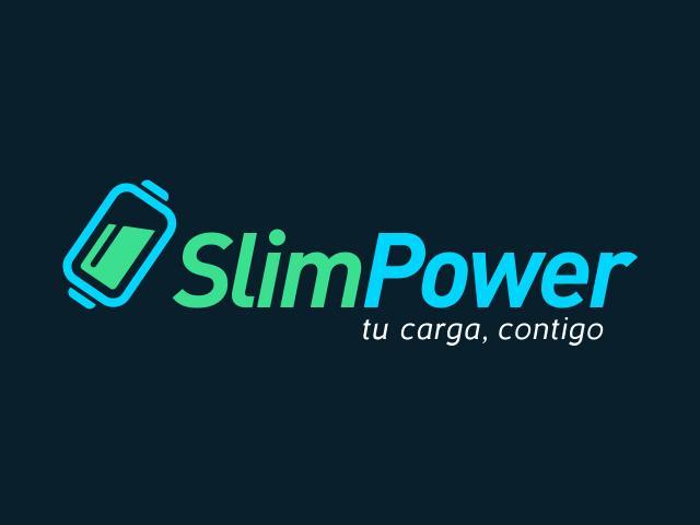 Logo SlimpoPower diseñado por movidagrafica