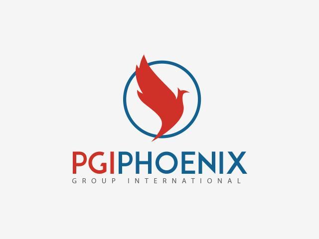 Logo PGI Group diseñado por movidagrafica