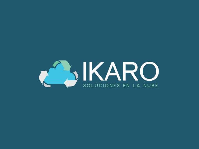 Logotipo Ikaro soluciones IT por movidagrafica
