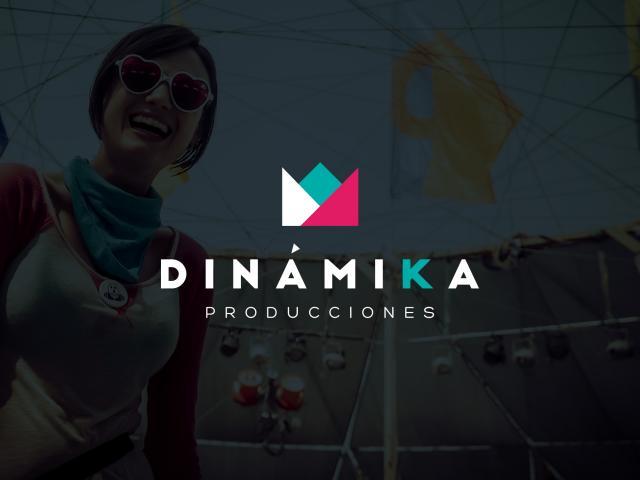 Logotipo Dinamika Prducciones por Movidagrafica Colombia
