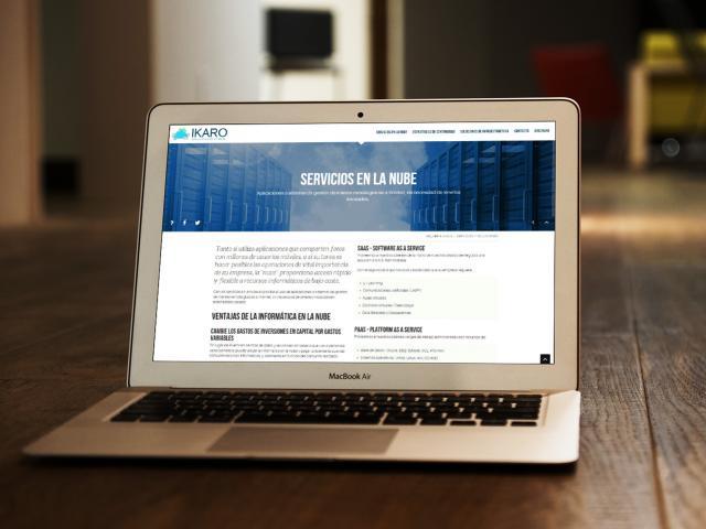 Diseño de web site ikaro soluciones it por movidagrafica colombia
