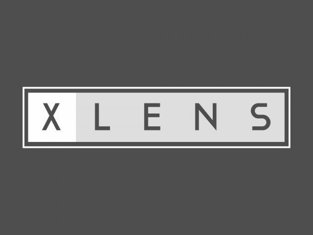 diseño logo xlens por movidagrafica