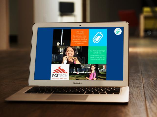Web Site SlimPower  diseñado por movidagrafica