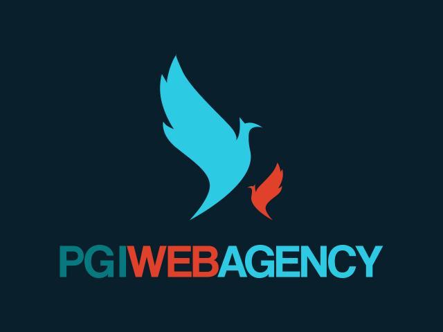 Logo PGI Web Agency diseñado por movidagrafica