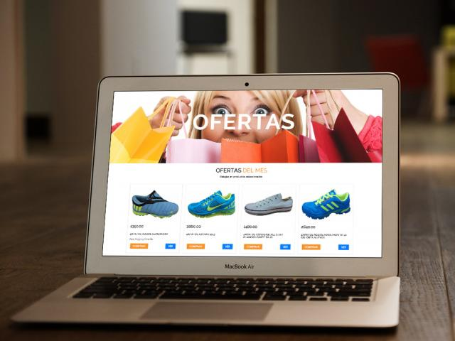 ONLINE STORE TYPE WEB PAGE