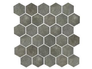 Mosaico Esagono Dark Wood