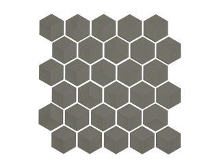 Mosaico Esagono 3D Grigio Matt