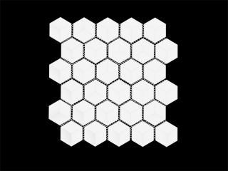 Mosaico Esagono 3D Bianco Shine